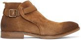 H By Hudson Tan Suede Hank Boots