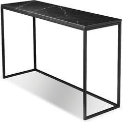 Brayden Studio Dahmen Console Table Color: Black Marble