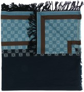 Loewe anagram-print cotton scarf