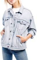 Free People Women's Denim Trucker Jacket