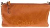 Chloé embossed logo clutch