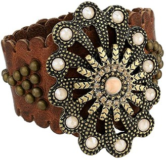 Leather Rock Moanna Bracelet (Cognac) Bracelet