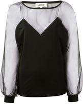Jean Paul Gaultier sheer panel blouse