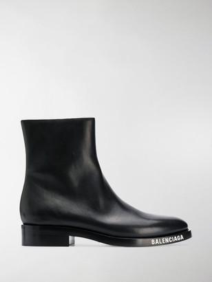 Balenciaga Logo Detail Ankle Boots
