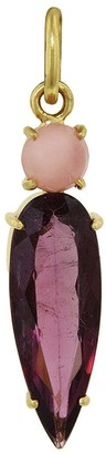 Irene Neuwirth One-Of-A-Kind Pink Opal and Pink Tourmaline Teardrop Yellow Gold Charm