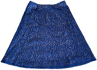 Carven Navy Cotton Skirts