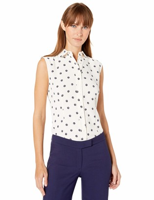 Anne Klein Women's Sleeveless Button Front Blouse