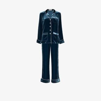 Olivia von Halle Coco Astor velvet pyjamas