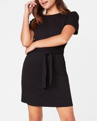 Express Sunrise Tie Front Dress