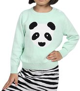 MNBS Girls Boys Cartoon Panda Sweater Long Sleeve Pullover Sweatershirt