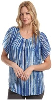 Calvin Klein Jeans Printed Layered Top (Ultra Blue) - Apparel