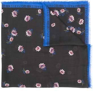 Kenzo floral logo scarf