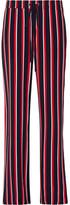 Markus Lupfer Agnes Striped Silk-chiffon Wide-leg Pants - Red