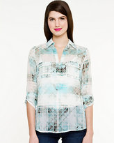 Le Château Check Print Shirt Dress