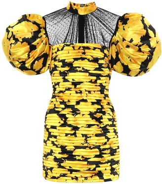 Richard Quinn Duchesse silk-satin minidress