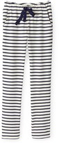 Petit Bateau Womens cigarette pants in striped heavy jersey