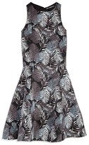 Miss Behave Girls' Fern Print Double Cutout Dress - Sizes 8-16