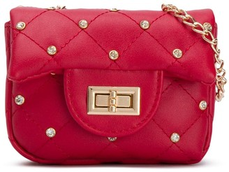 MonnaLisa Embellished Quilted Shoulder Bag
