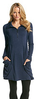 Kensie Heathered French Terry Slouch Pocket Dress