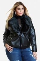 Fashion to Figure Evana Faux Leather Jacket