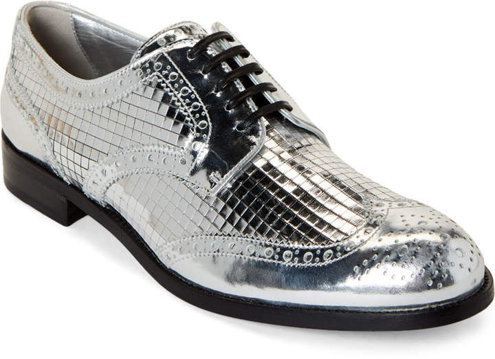 cd087a727d5 Silver Brogue Metallic Derby Shoes