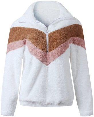 Goodnight Macaroon 'Teagan' Chevron Fleece Pullover (5 Colors)