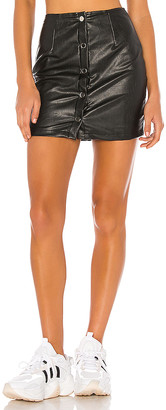 superdown Dolores Faux Leather Skirt
