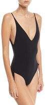 Zimmermann Prima Plunging Ruched One-Piece Swimsuit