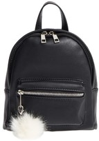 BP Faux Leather Mini Backpack - Black