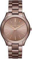 Michael Kors Women's Slim Runway Sable Ion-Plated Stainless Steel Bracelet Watch 42mm MK3418