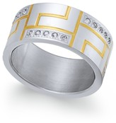 Thumbnail for your product : Sutton by Rhona Sutton Men's Two-Tone Modern Cubic Zirconia Ring