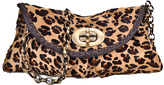 Carla Mancini Leopard Leather Clutch