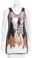 Tibi Sequin Silk Tunic