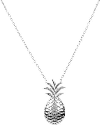 Latelita Pineapple Fruit Necklace Silver