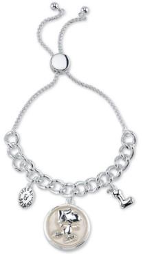 "Peanuts Santa ""Snoopy"" Bolo Bracelet in Fine Silver Plated Brass"