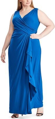 Chaps Plus Size Sleeveless Evening Dress