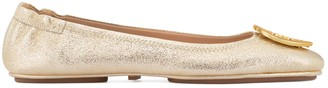 Minnie Travel Ballet Flat, Metallic Leather