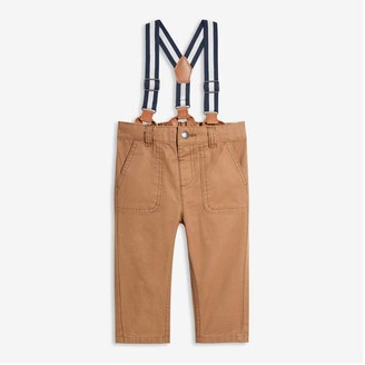 Joe Fresh Baby Boys' Suspender Pants, Camel (Size 6-12)