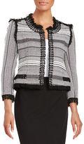 Kobi Halperin Monochrome Frayed Tweed Blazer
