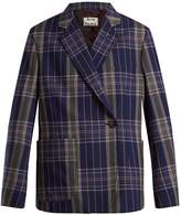 Acne Studios Kheira oversized checked blazer