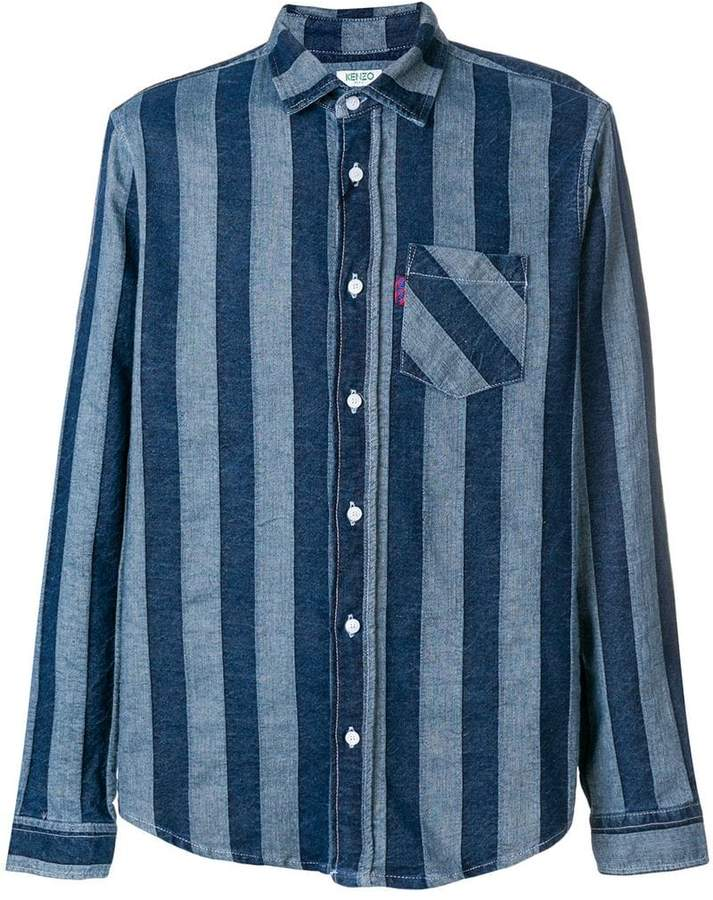 Kenzo striped denim shirt