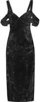 Rachel Zoe Kinsley Off-the-shoulder Velvet Dress - Black