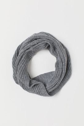 H&M Knit Tube Scarf - Gray