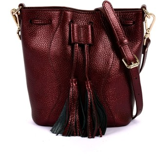Hiva Atelier Mini Rivus Leather Bag Metallic Burgundy