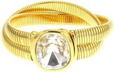 Kenneth Jay Lane Crystal Stobe 2 Row Gold Plated Snake Wrap Bracelet