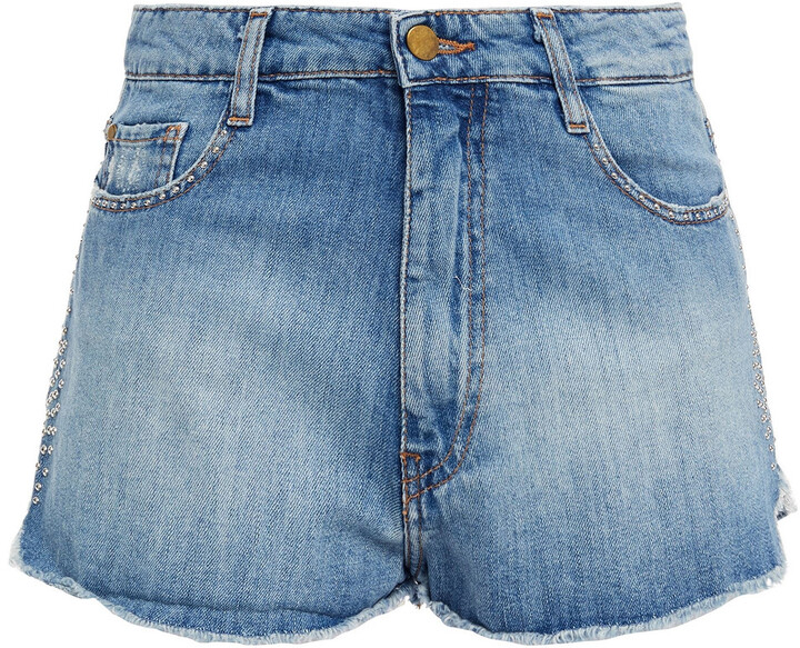 Thumbnail for your product : BA&SH Luego Studded Denim Shorts