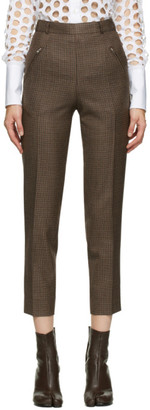 Maison Margiela Brown Wool Pleated Trousers
