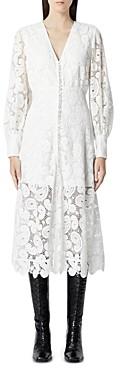 The Kooples Ecru Lace Midi Dress