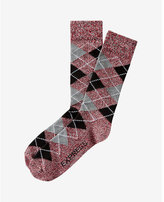 Express marled argyle dress socks