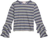 Design History Girls Girl's Multi Stripe Metallic Top, Size S-XL